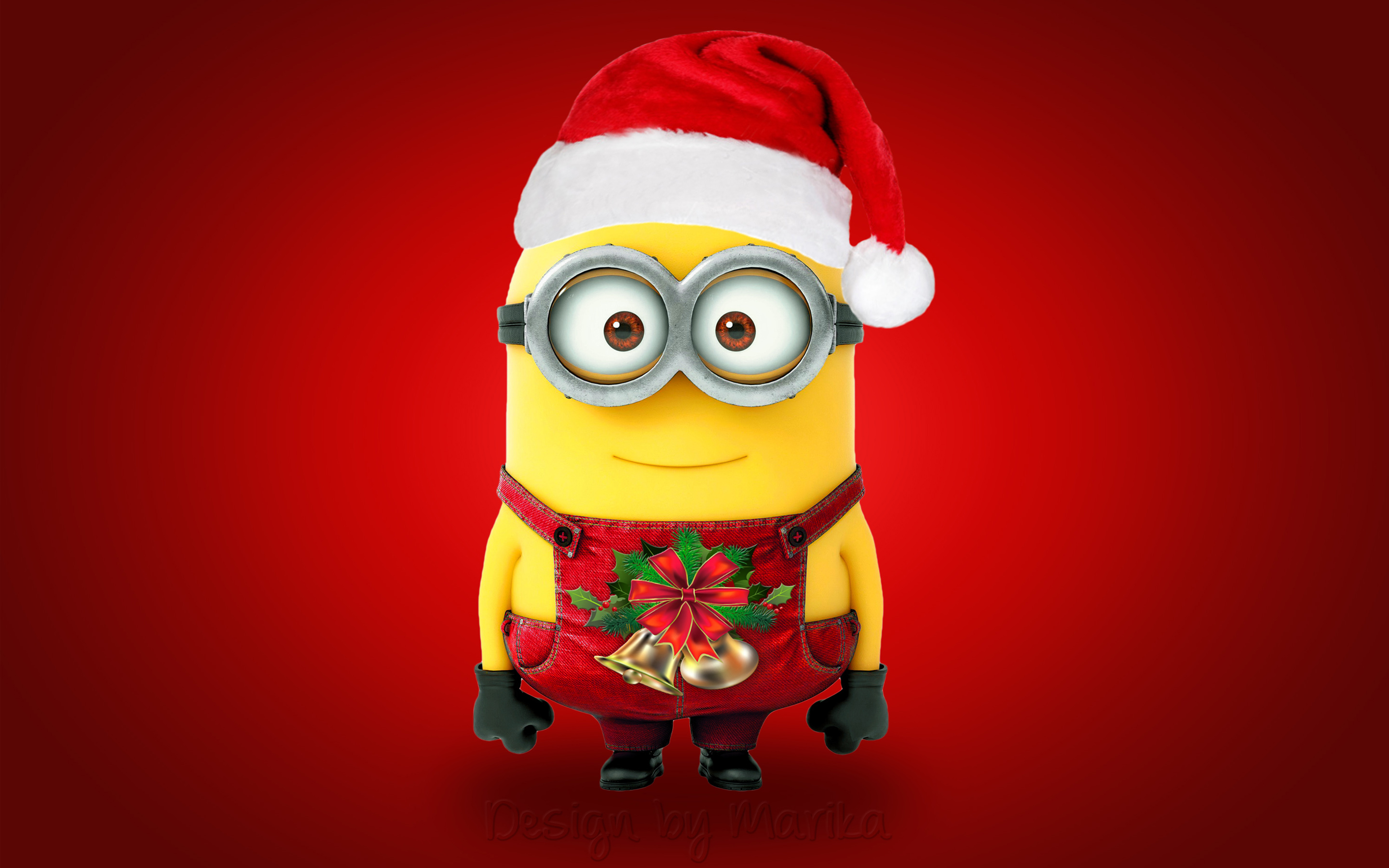 christmas-santa-minion-cute-hd-wallpaper