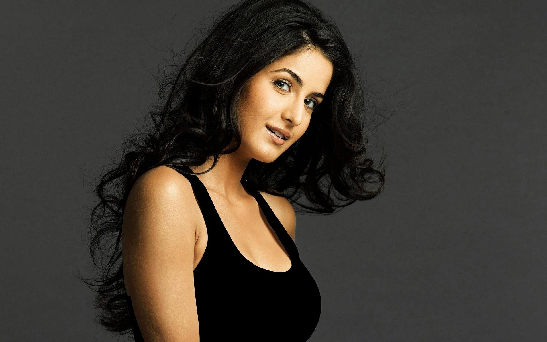 Katrina-Kaif-in-black-shirt-hot-wide-HD-wallpaper