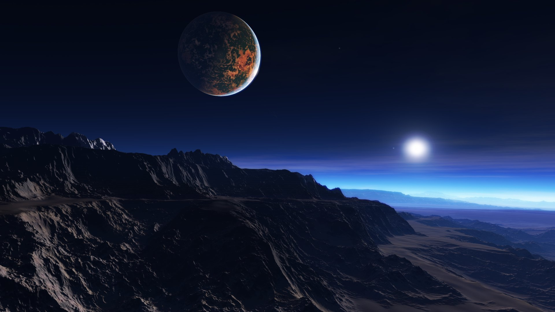 exoplanet_atmosphere_clouds_stars_moon_mist_mountains_rocks_101205_1920x1080