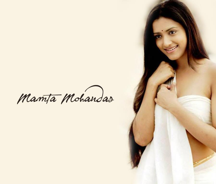 mamta-mohandas-hot-in-white-telugu-saree